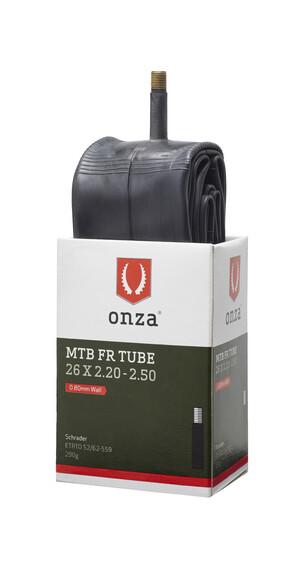 Onza MTB Cykelslange 0.8mm, 26 x 2.20 - 2.50 sort
